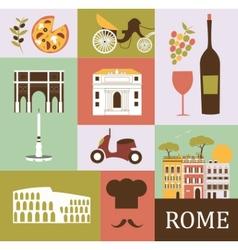 Symbols of rome vector