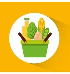Vegetarian menu healthy food vector