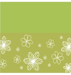 Vintage card with hand drawn flowers vector image vector image