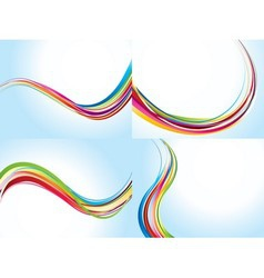 Wave pattern backgrounds vector image
