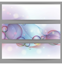 Colorful glowing bubbles banner vector