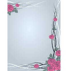 Roses winter vector
