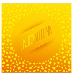 Enjoy autumn banner vector