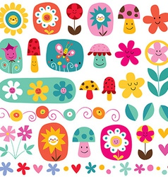 Cute flowers pattern 5 vector