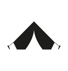 The tent icon travel symbol flat vector