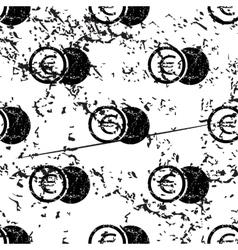 Euro coin pattern grunge monochrome vector