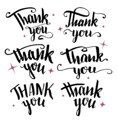 Thank you calligraphy collection vector