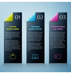 Modern Infographic design template vector image