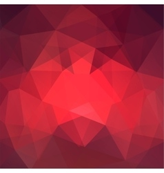 Abstract red mosaic background triangle geometric vector