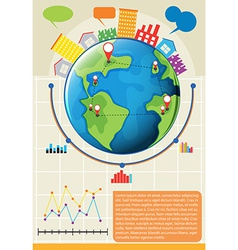 An infographics showing the globe vector image