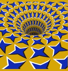 Blue stars hole optical motion vector