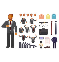 businessman character creation vector image vector image