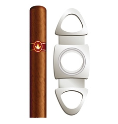 Cigar and guillotine vector