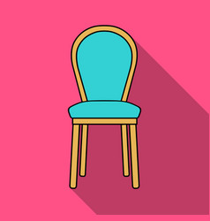 Classical chair icon in flat style isolated on vector