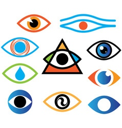 eye color vector image vector image