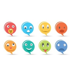 Faces Icons vector image vector image