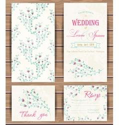 Floral card templates vector