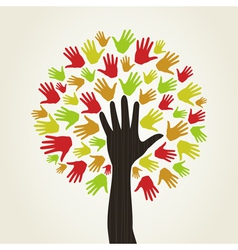 Hand a tree vector image