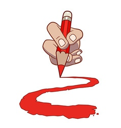 Hand with pencil vector image vector image