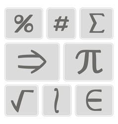 Icons with mathematical symbols vector