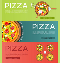 italian pizza banners set vector image