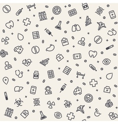 Light Seamless Medical Pattern vector image vector image
