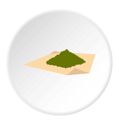 Marijuana on a paper icon circle vector