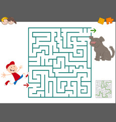 maze leisure activity vector image vector image