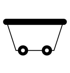 Mine wagon isolated icon vector