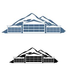 mountain resort logo vector image vector image