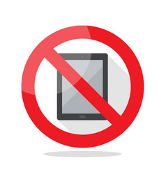 No computer tablet sign vector