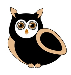owl- bird of prey vector image