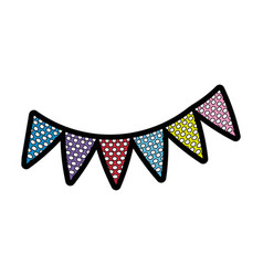 Pennants decoration party vector