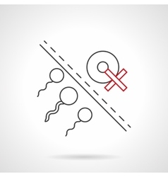Risk of infertility flat line icon vector image