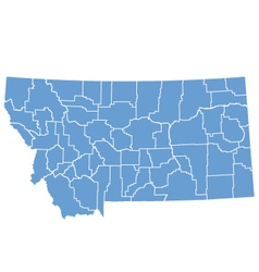 State map of Montana by counties vector image vector image