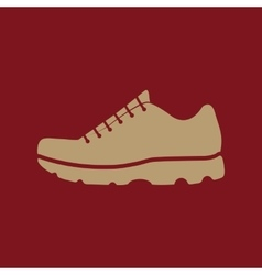 The sneaker icon Shoes symbol Flat vector image vector image