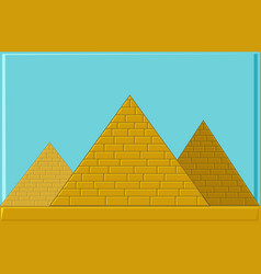 Three pyramids of ancient egypt of blocks vector