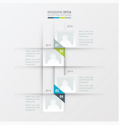 Timeline design green blue gray color vector