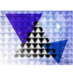 triangle 14 vector image vector image