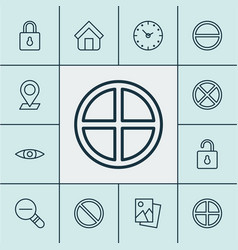 Web icons set with positive time obstacle and vector