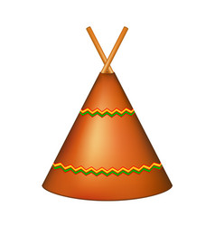 Wigwam indian teepee in brown design vector