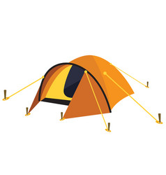 yellow tent vector image vector image