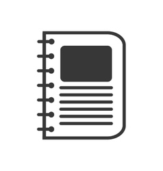 Book notebook education learning icon vector