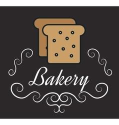 icon bakery bread slice design vector image