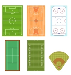 Fieldes set isometric view vector