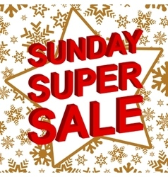 Winter sale poster with sunday super sale text vector