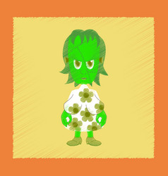 flat shading style icon zombie woman vector image