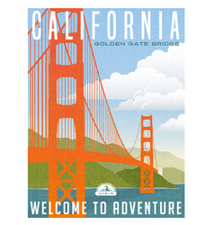 California travel poster or sticker vector