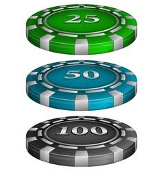 Casino poker chips vector