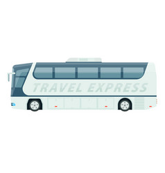 Spacious comfortable white travel express bus vector